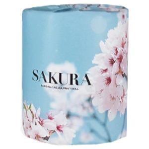 トイレットペーパー 桜 100個販売 春を象徴する花 トイレットロール おもしろトイレットペーパー ※商品代引不可|hansokuitiba