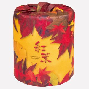 トイレットペーパー 紅葉 100個販売 紅葉を感じて トイレットロール おもしろトイレットペーパー ※商品代引不可|hansokuitiba