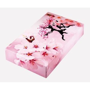 ティッシュペーパー 桜BOXティッシュ 40W 100個  春の季節の販促 春を象徴する花 トイレットペーパー ※代引不可|hansokuitiba