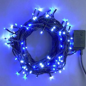 LEDイルミネーション/ストレートライト ホワイトブルー50球/コントローラー付/LEDホワイト/コロナ産業|hanwa-ex