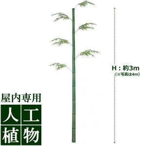 【人工植物】グリーンデコ モウソウ竹 3m(リーフ5本付)|hanwa-ex