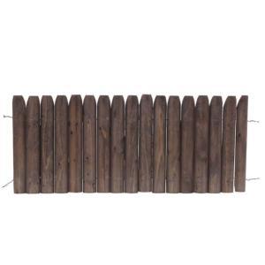 先割花壇フリー 焼磨 H:400/ガーデンフェンス/ミニフェンス/木製フェンス/ hanwa-ex