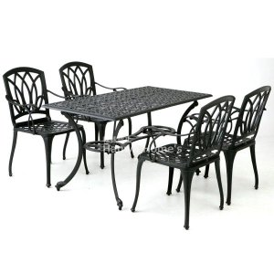G-Style アルカウン ダイニングテーブル 5点セット/ガーデンファニチャー/ガーデンファニチャーセット/テーブル/チェアー(324989) hanwa-ex