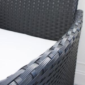 先行予約 2月上旬頃入荷予定 ラタンガラステーブル3点セット ブラック/ガーデンファニチャーセット ガーデンテーブルセット ガーデンテーブル|hanwa-ex|03