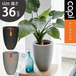 縦長 植木鉢 軽量 樹脂製 プランター カピ ベースエレガントロウ スムース capi Vase elegant low Smooth hnw1 hanwa-ex
