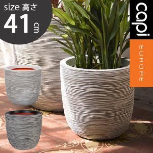 先行予約 ボール型植木鉢 プランター アイボリー ブラック カピ エッグプランター リブ 43×41  高さ41cm capi Egg planter rib hanwa-ex