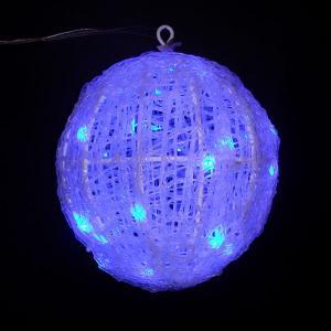 /LEDイルミネーション/3Dモチーフライト/青色LEDクリスタルボールライト 20cm/LED ブルー/コロナ産業(L3D222B)|hanwa-ex
