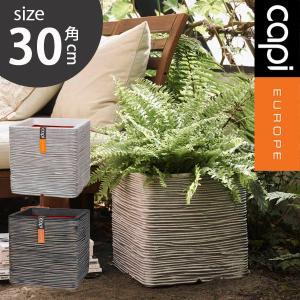 グラスファイバー 植木鉢/キューブ ブリック M/樹脂製植木鉢/ファイバークレイ|hanwa-ex
