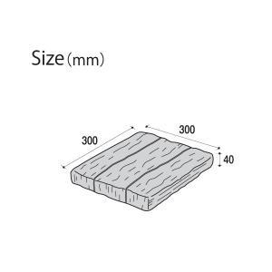 コンクリート製枕木/オールドヴィレッジPAVER 300×300×40mm/K-1/古枕木風/腐らない/リアル/DIY/置くだけ/アンティーク調/プロの外構現場で使用|hanwa-ex|03