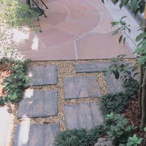 コンクリート製枕木/オールドヴィレッジPAVER 300×300×40mm/K-1/古枕木風/腐らない/リアル/DIY/置くだけ/アンティーク調/プロの外構現場で使用|hanwa-ex|05