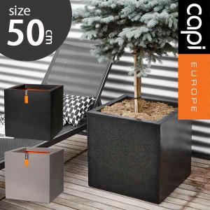 グラスファイバー製植木鉢/キューブ ポット LL/植木鉢 樹脂製植木鉢 ファイバークレイ  |hanwa-ex