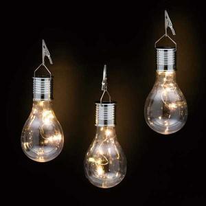 ソーラー電球ライト  ■LED色/球数:電球色/4球 ■サイズ:本体:約 横幅7.5×奥行7.5×高...
