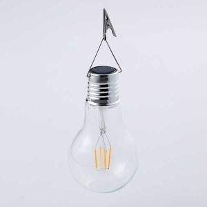 ソーラーフィラメント電球ライト/ガーデンソーラーライト/電球/ソーラーライト/ランタンライト/|hanwa-ex