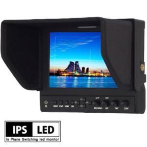 デジタルカメラ 液晶モニター 業務用 HM-TLB7SV2 7インチ 7型 IPS液晶 バッテリー駆動対応 3G-SDI XLR電源 Vマウントバッテリー EOS 5D MarkII / MarkIIIモード|hanwha