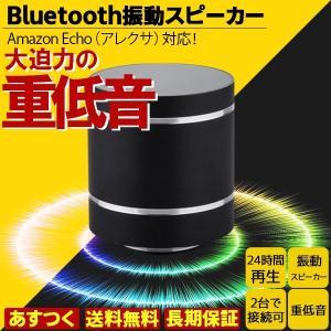 アレクサでも使える振動スピーカー Bluetooth ポータブル ワイヤレス 充電式 10W 重低音