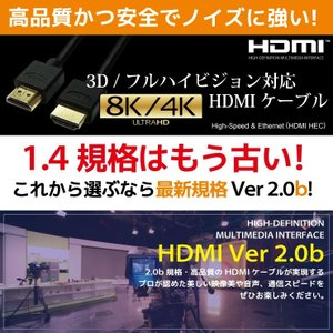 HDMIケーブル 1m Ver.2.0b フル...の詳細画像3