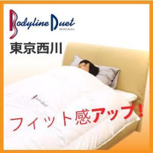 東京西川 Bodyline Duet(ボディラインデュエット) ボディラインデュエット羽毛カセットキングロング CV8521 hanzam