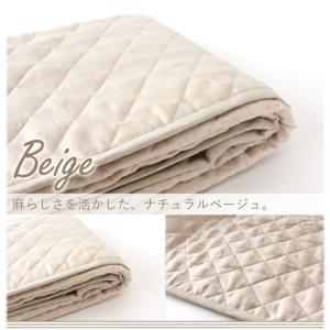 麻敷きパッド フレンチリネン100%使用 「凛寝(りんね)オリジナル」 セミダブルサイズ 日本製 冷感パッド|hanzam|06