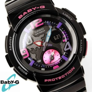 Baby-G 腕時計 レディース  カシオ CASIO ベビージー デジアナ ビーチ・トラベラー・シリーズ BGA-190-1B|hapian