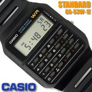 カシオ CASIO メンズ 腕時計 データバンク カリキュレーター  CA-53W-1Z ブラック ...