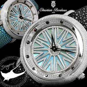 ぐるぐる時計 ぐるぐる腕時計 販路限定 エイ革 スティングレイ 回る時計|hapian