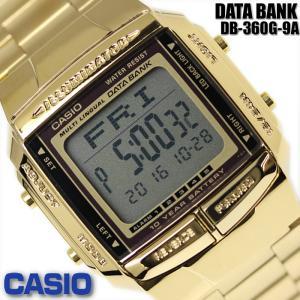 7744fb543d カシオ CASIO メンズ 腕時計 データバンク 海外モデル DB-360G-9A ゴールド