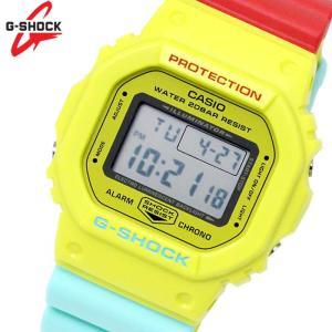 カシオ CASIO Gショック G-SHOCK 腕時計 DW-5600CMA-9D メンズ キッズ 子供 男の子 デジタル ユニセックス イエロー 黄色 レッド 赤 hapian