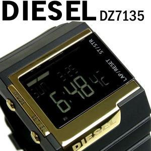 ディーゼル DIESEL 腕時計 クロノグラフ メンズ デジタル メンズ腕時計 ブランド DZ7135 ブラックゴールド ディーゼル DIESEL|hapian