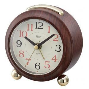 時計 目覚まし時計 置き時計 ウッド FEA159-BR クロック 時計