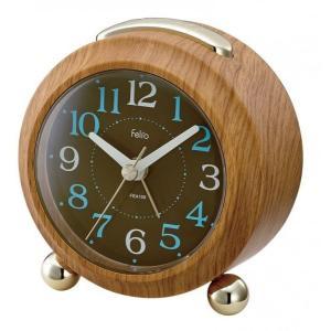 時計 目覚まし時計 置き時計 ウッド FEA159-N クロック 時計