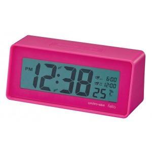 時計 目覚まし時計 置き時計 デジタル FEA161-PK 電波時計 時計 ピンク