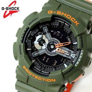 カシオ CASIO Gショック G-SHOCK アナデジ メンズ 腕時計 カーキ ブラック GA-110LN-3A hapian