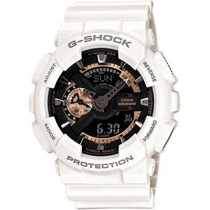 CASIO カシオ G-SHOCK Gショック ジーショック メンズ アナログ デジタル アナデジ ローズゴールド 白 ホワイト ga-110rg-7a|hapian