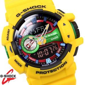 CASIO カシオ G-SHOCK Gショック ジーショック メンズ アナログ デジタル アナデジ ビックケース 黄色 イエロー ga-400-9a|hapian