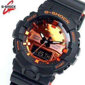 カシオ CASIO Gショック アナデジ メンズ 腕時計 GA-800BR-1A オレンジ×ブラック hapian