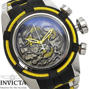 メンズ腕時計 INVICTA インビクタ ボルト 14194 和柄 鯉 ビッグケース|hapian