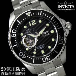 腕時計 メンズ ダイバーズウォッチ インビクタ 15387 自動巻き 腕時計|hapian