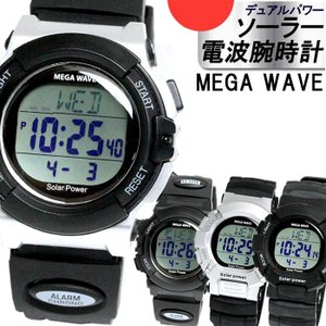 TIMEIN 腕時計 MEGAWAVE ソーラー 電波 メンズ タイムイン MW001 MW006|hapian