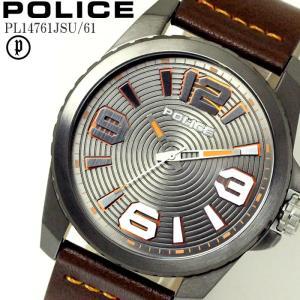 POLICE ポリス 腕時計 ウォッチ メンズ アナログ レザー VINYL ビニール オレンジ PL14761JSU-61|hapian