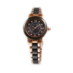 ルビンローザ RUBIN ROSA 腕時計 レディース ウォッチ ブランド 電池交換不要 ソーラー クォーツ セラミック 土屋太鳳 R309PBKの画像