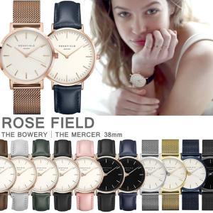 ローズフィールド ROSE FIELD レディース腕時計 アナログ 38mm ユニセックス メンズ ペアウォッチ可能 hapian