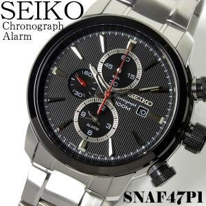 セイコー SEIKO 腕時計 メンズ クロノグラフ SEIKO アラーム SNAF47P1 ウォッチ...