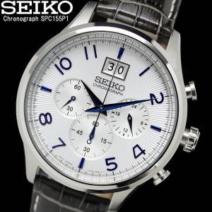 SEIKO セイコー クロノグラフ 革ベルト メンズ 腕時計 SPC155P1