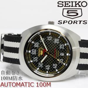 SEIKO セイコー 5 SPORTS ファイブスポーツ メンズ 腕時計 自動巻き 防水 SRPA93K1 ブラック ホワイト|hapian