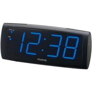 時計 LED 目覚まし時計 置き時計 デジタル T-681-BK 時計