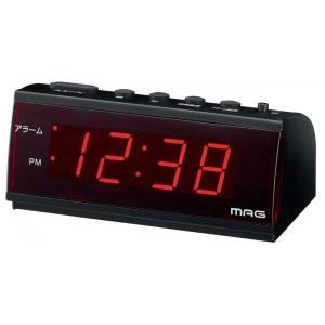 時計 LED 目覚まし時計 置き時計 デジタル T-682-BK 時計