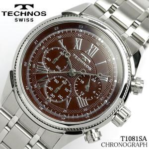 TECHNOS テクノス メンズ クロノグラフ 腕時計 T1081SA Men's ブランド 時計 hapian