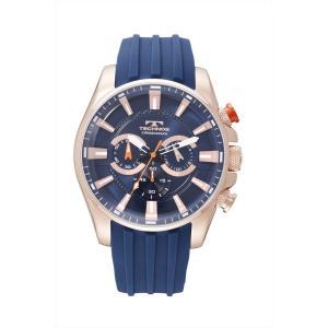 【メーカー正規品】TECHNOS テクノス クロノグラフ クォーツ メンズ 腕時計 男性用 T8532PN ブルー|hapian