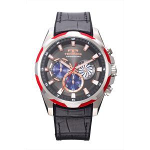 【メーカー正規品】TECHNOS テクノス クロノグラフ クォーツ メンズ 腕時計 男性用 クロノグラフ T8585RE レッド|hapian