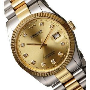 【メーカー正規品】TECHNOS テクノス 高級感 腕時計 ラウンド デイト コンビ メンズ クォーツ T9604TC コンビ|hapian